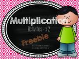 Multiplication x 2 Activities