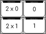 Multiplication x2 Memory Cards