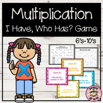 Multiplication (x6-x10)
