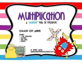"""Multiplication...A """"Monster"""" Pack of Common Core Aligned Resources"""