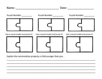 MultiplicationCommutative Property Puzzle