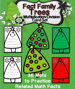 Multiplication/Division Fact Families Trees Cards Set