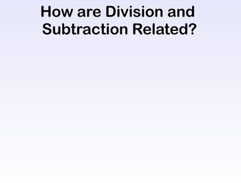 Multiplication/Division Fact Families with Repeated Add/Sub SMART Board