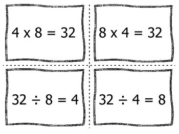 Multiplication/Division Fact Family Match