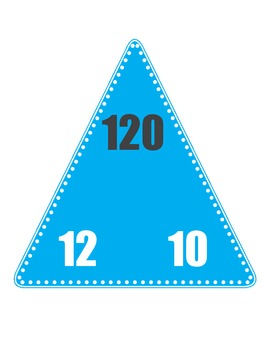 Multiplication/Division Fact Family Triangle Flash Cards