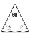 Multiplication/Division Fact Family Triangle Flash Cards (