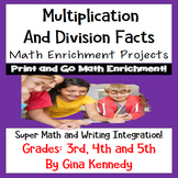 "Multiplication and Division Projects, Creative Fun ""Math Fact"" Projects"