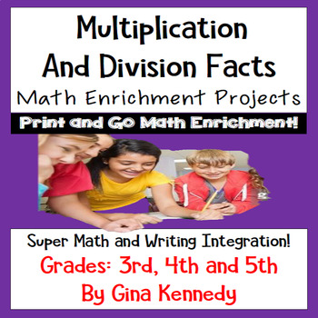 Multiplication and Division Facts Enrichment Math Projects