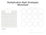 Multiplication/Division Math Strategy Worksheet
