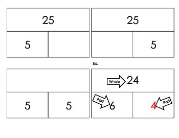 Multiplication/Division Part Whole Cards