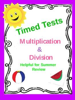 Multiplication/Division Timed Tests