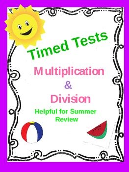 Multiplication/Division Timed Tests