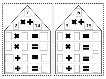 Multiplication/Division Fact Family Cards