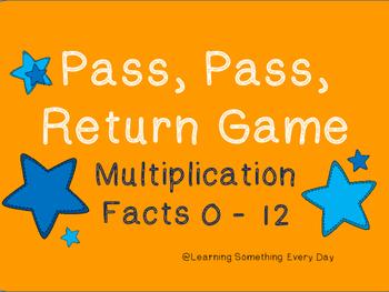 Multiplication Facts  Game - Pass, Pass, Return