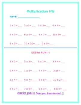 MultiplicationHomework