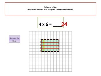 Multiplication:Interpret Products of Whole Numbers with Student Worksheet