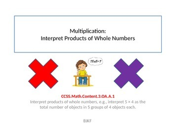 Multiplication:Interpret Products of Whole Numbers with S