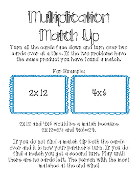 Multiplication.and Division Match Up