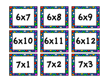 Multiplicationary - A Pictionary Game for Multiplication Facts