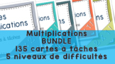 Multiplications 135 cartes à tâches! Mega Pack!
