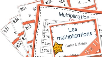 Multiplications 3x1 27 cartes à tâches!