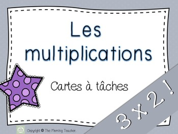 Multiplications 3x2 27 cartes à tâches!
