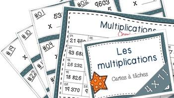 Multiplications 4x1 27 cartes à tâches!