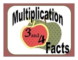 Multiplications Facts: Threes and Fours