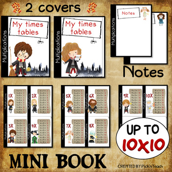 MINI BOOK - 10 TIMES TABLES – Up to 10x10 - Multiplication