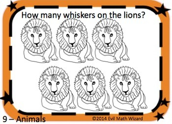 Multiplication Task Cards - Zoo Animal Pictures 3.OA.3