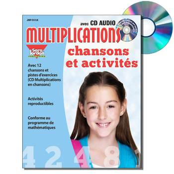 French Math Songs (Multiplication) - MP3 Album Download w Lyrics & Activities