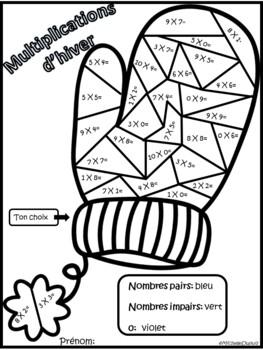 Hiver - Activités de Math et Littératie -  French winter activities