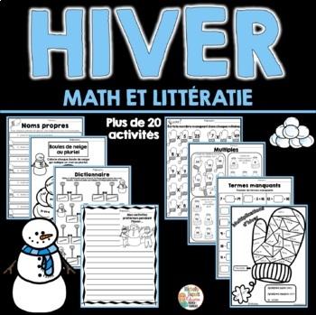 Hiver - Activités de Math et Littératie -  French winter a