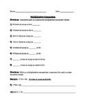 Multiplicative Comparison Worksheet