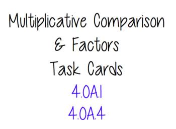 Multiplicative Comparison AND Factors Task Cards