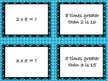 Multiplicative Comparison Cards