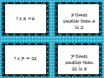 Multiplicative Comparison Cards
