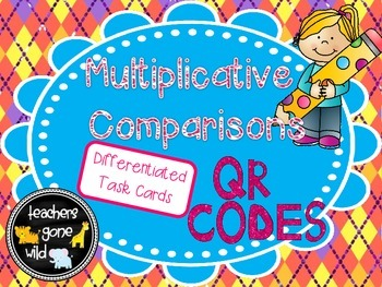 Multiplicative Comparison Differentiated QR Code Task Cards