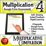 Multiplicative Comparison Google Forms Assessments Math Di