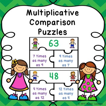Multiplicative Comparison 4th Grade Multiplication Game Puzzles 4.OA.1