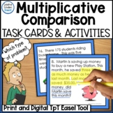 Multiplicative Comparison Word Problem Task Cards