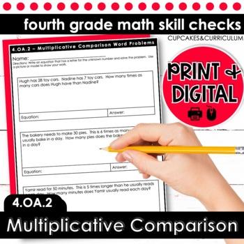Multiplicative Comparison Word Problems | Fourth Grade Math 4.OA.2