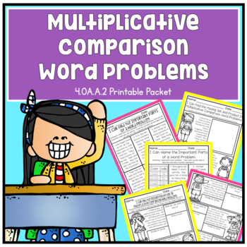 Multiplicative Comparison Word Problems Fourth Grade Math