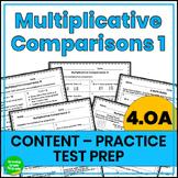 Multiplicative Comparison Practice Worksheets