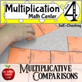 Multiplicative Comparison 4.OA.1 Magic Square Self Checking Math Center Activity