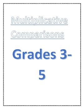 Multiplicative Comparisons