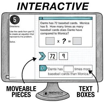 Multiplicative Comparisons  - 4th Grade Google Slides™ Math Center