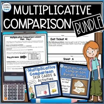Multiplicative Comparisons Bundle - Lesson Plans, Task Cards and More!