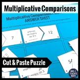 Multiplicative Comparisons Cut-Out Puzzle  4.OA.1