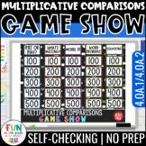 Multiplicative Comparisons Game Show 4th Grade | 4.OA.1 / 4.OA.2